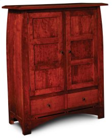 Aspen Cabinet with Wood Doors and Inlay