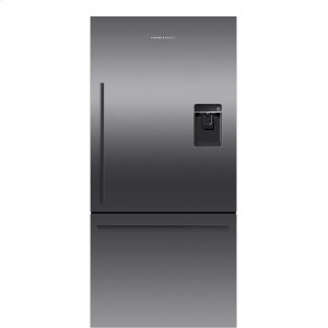 Fisher & PaykelBlack Stainless Steel Counter Depth Refrigerator 17 cu ft, Ice & Water