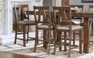 SLATBACK UPHOLSTERED STOOL Product Image