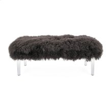 Arden Tibetan Fur and Acrylic Bench