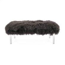 Arden Tibetan Fur and Acrylic Bench