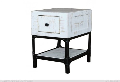 Cocktail table, hinged top w/ 2 drawers & casters