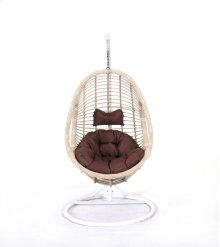 Emerald Home Catalina Hanging Basket Brown W/cream Wicker Frame Ou1061-09-15-k