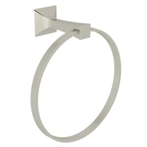 Polished Nickel Vincent Wall Mount Towel Ring