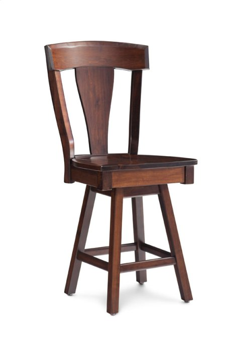 "Brookfield Swivel Barstool, Brookfield Swivel Barstool, Specify Seat Height 17""-31"", Leather Seat"