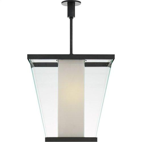 Visual Comfort SC5020BZ-WG Eric Cohler Marin 6 Light 21 inch Bronze Foyer Lantern Ceiling Light, Eric Cohler, Medium, White Glass
