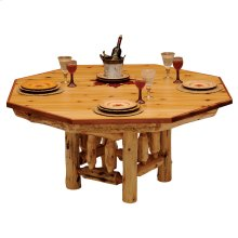 Poker Table Cover - 8-sided - Natural Cedar
