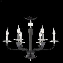 6-LIGHT CHANDELIER - Chrome