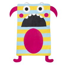 Teal Stripe Monster Laundry Bag