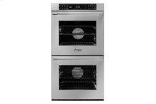 """27"""" Heritage Double Wall Oven, Silver Stainless Steel, Flush handle"""