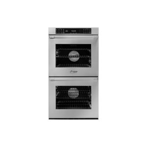 "Dacor27"" Heritage Double Wall Oven, Silver Stainless Steel, Flush handle"