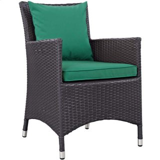 Convene Dining Outdoor Patio Armchair in Espresso Green
