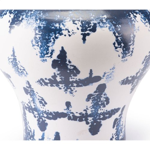 Mar Md Temple Jar Blue & White