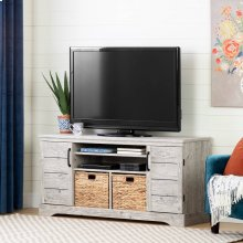 Tv Stand with Baskets for TVs up to 65\ - Seaside Pine