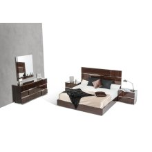 Modrest Picasso Italian Modern Ebony Lacquer Bedroom Set