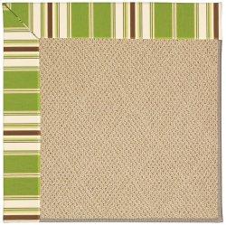 Creative Concepts-Cane Wicker Tux Stripe Green