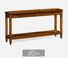 Console Table with Drawers in Country Walnut