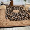 HERITAGE HALL HE10 BLK FREE FORM RUG 6' x 6'