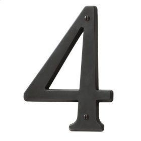 Oil-Rubbed Bronze House Number - 4