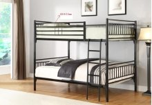 Twin/twin Metal Bunk Bed Bk)