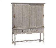Elizabethan Style Grey Oak TV Cabinet