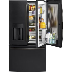 ®27.8 Cu. Ft. French-Door Refrigerator with Door In Door - BLACK SLATE