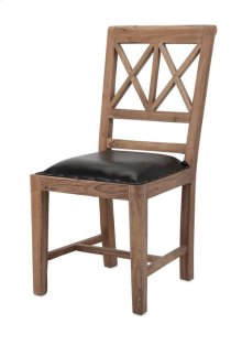 Becka Wood and Leather Dining Chair