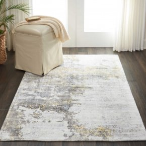 Safari Dreams Ki371 Ivory Gold Rectangle Rug 8' X 11'
