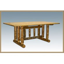 Glacier Country Log Trestle Dining Table