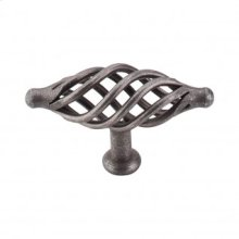 Oval Large Twist Knob 3 1/4 Inch - Pewter