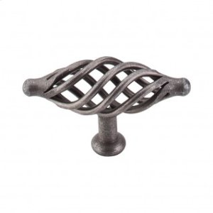 Oval Large Twist Knob 3 1/4 Inch - Pewter