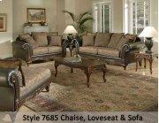 SanMarChocolate/Silas Raisin/Kent Fringe 7685FRS - Sofa Product Image