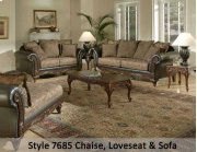 SanMarChocolate/Silas Raisin/Kent Fringe 7685FRCHS - Chaise Product Image