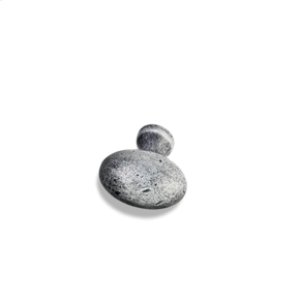 """1-9/16"""" Overall Length Weathered Football Cabinet Knob."""