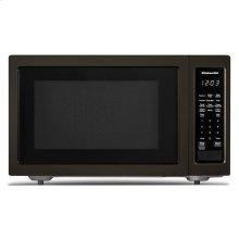 "KitchenAid® 21 3/4"" Countertop Microwave Oven with PrintShield Finish - 1200 Watt - Black Stainless"