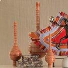 Japan Vase-Orange-Lg Product Image
