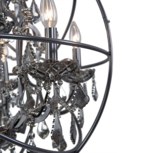 Contessa 5 Light Chandelier in Antique Black Finis
