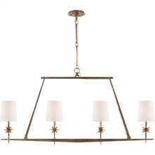 Visual Comfort S5316GI-NP Ian K. Fowler Etoile 4 Light 48 inch Gilded Iron Linear Pendant Ceiling Light