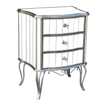 CABINET 3-DRAWERS MIRROR / WOOD TRIM / IRON LEGS Product Image