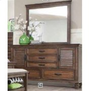 Franco Burnished Oak Dresser Mirror Product Image