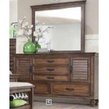Franco Burnished Oak Dresser Mirror