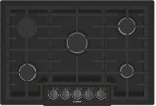 "800 Series 30"" 5 Burner Gas Cooktop, NGM8046UC, Black with Black Stainless Knobs"