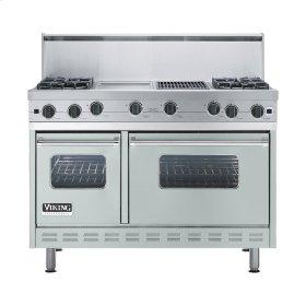 "Sea Glass 48"" Open Burner Commercial Depth Range - VGRC (48"" wide, four burners 12"" wide griddle/simmer plate 12"" wide char-grill)"