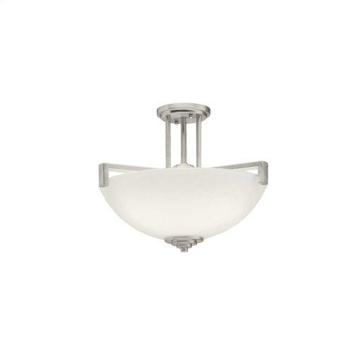 Eileen 3 Light Convertible Pendant Brushed Nickel