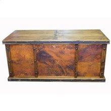 Copper panels Laguna desk with 3 copper panels