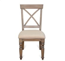 Aberdeen X-Back Side Chair Weathered Driftwood finish