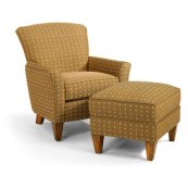 Dancer Fabric Chair & Ottoman
