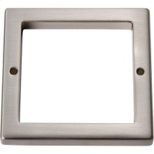 Tableau Square Base 2 1/2 Inch - Brushed Nickel