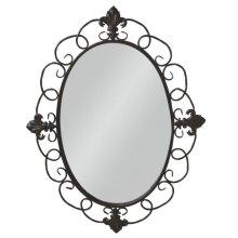 Fleur de Lis Oval Wall Mirror