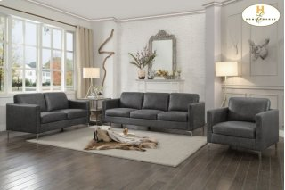Breaux Love Seat Gray